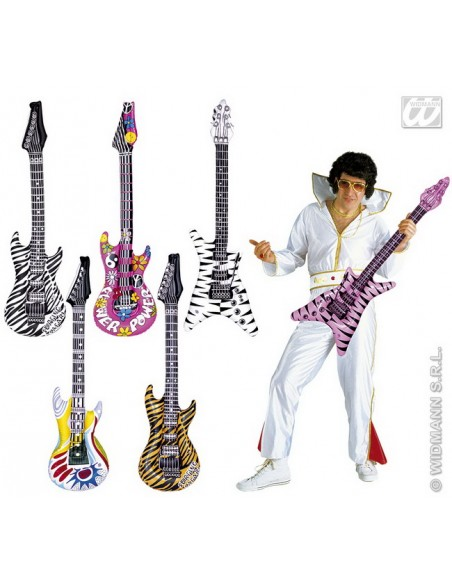 Guitarra inflable (modelo tigre naranja) Widmann Inflables