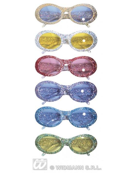 Gafas purpurina azules Widmann Gafas