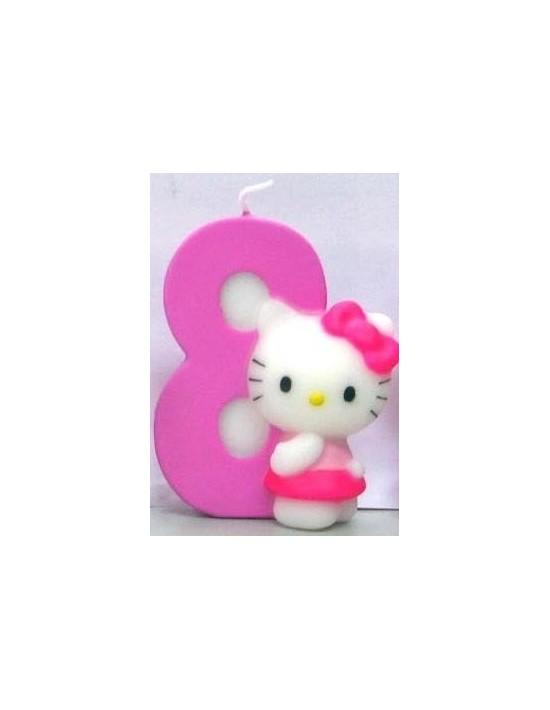 Vela hello kitty nº 8 Sempertex Velas