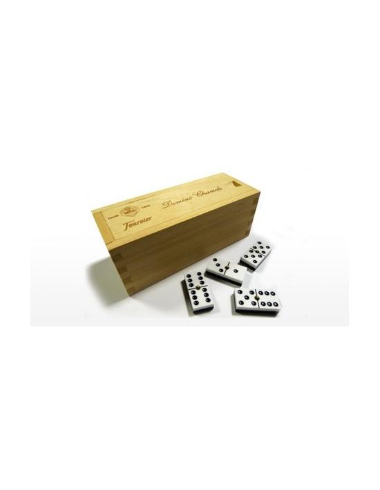 Dominó chamelo celuloide fournier caja de madera Fournier Dominó