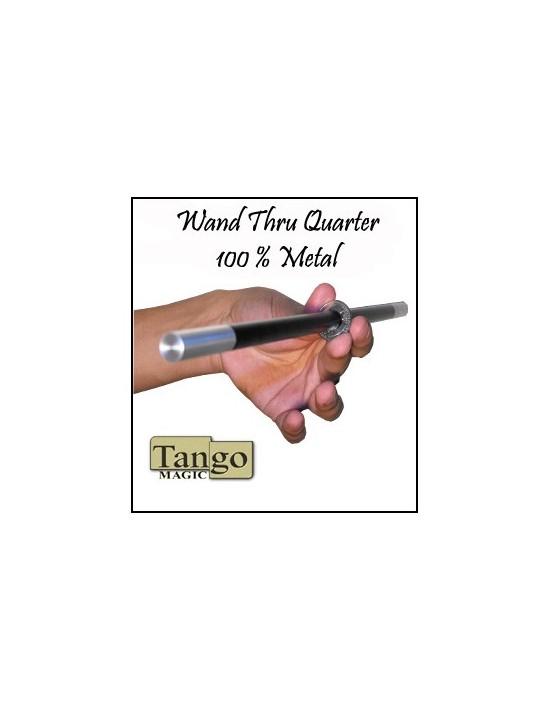 Varita a través de moneda cuarto de dólar Tango Magic Varitas