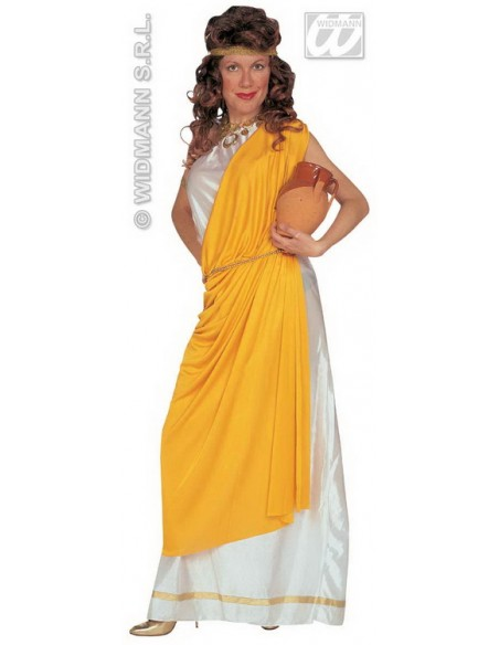 Disfraz de romana toga amarilla talla m Widmann Para Mujer
