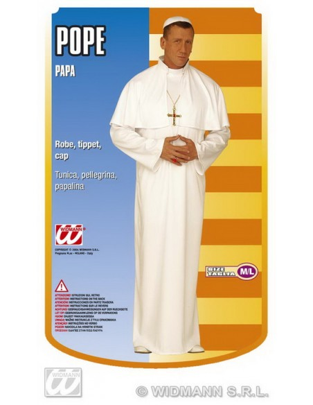 Disfraz de papa adulto talla l Widmann Para Hombre
