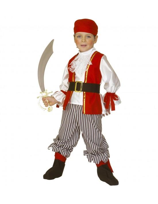 Disfraz de elegante pirata niño 4-5 años, 116cm Widmann Niño