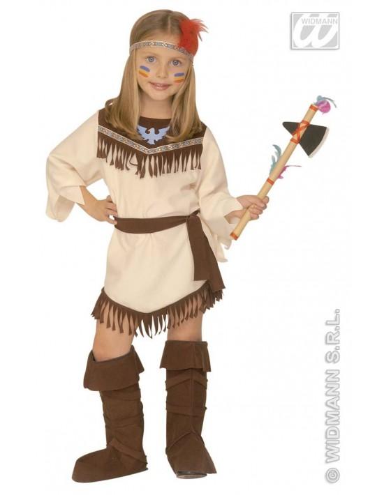 Disfraz de india nativa niña 116cm, 4-5 años Widmann Niña