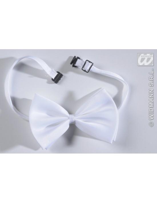 Pajarita en color blanco ajustable deluxe Widmann Pajaritas y corbatas