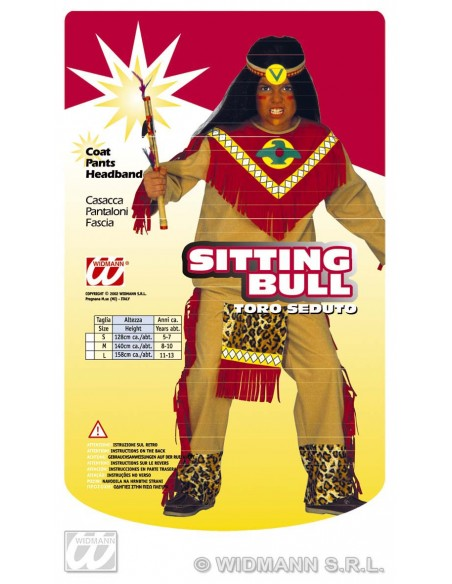Disfraz indio toro furioso 8-10 años Widmann Niño