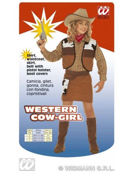 Disfraz de vaquera talla 8-10 años, 140cm Widmann Niña