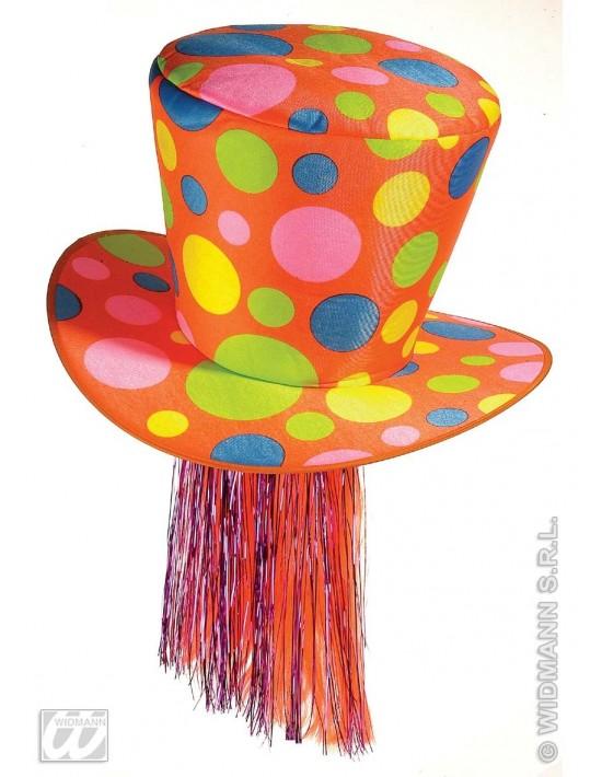 Sombrero maxi cilindro naranja Widmann Sombreros