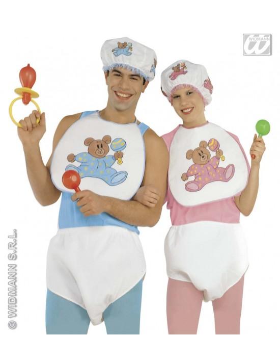 Set de disfraz bebé azul Widmann Para Hombre
