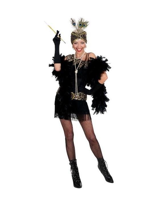 Disfraz bailarina de charlestón talla m negro Widmann Para Mujer