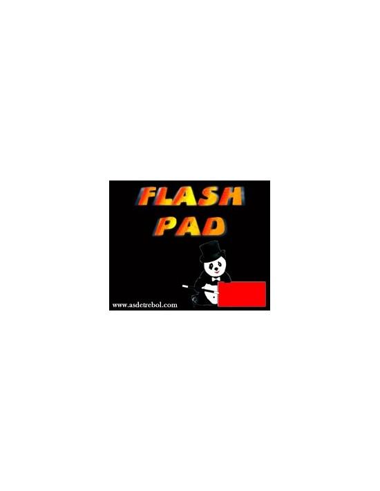 Papel flash rojo en carterita 15 hojas 6x8 cms Panda Magic Juegos con fuego