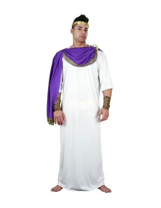Disfraz de emperador capa violeta talla única (m-l) Disfraces BT Para Hombre
