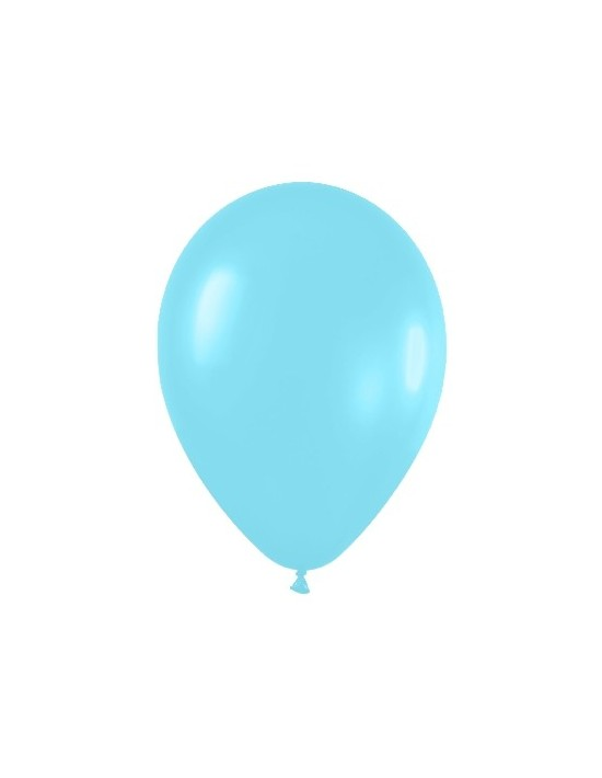 Bolsa de 50 globos sempertex r12 de 30 cm color satín azul caribe (438) Sempertex Globos Redondos