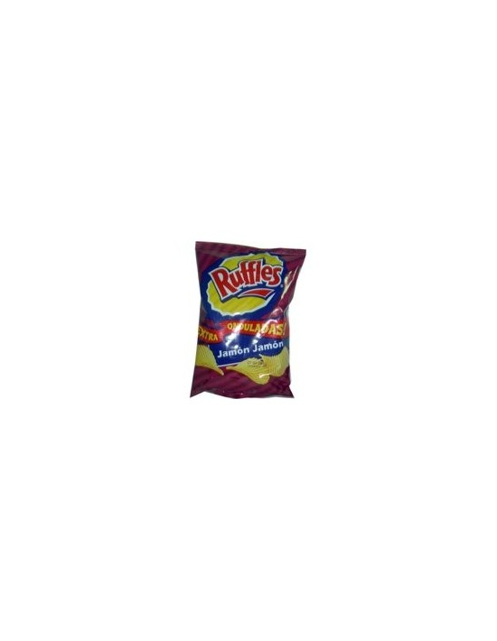 Patatas ruffles jamón jamón bolsa 45 g Matutano Patatas fritas y snacks