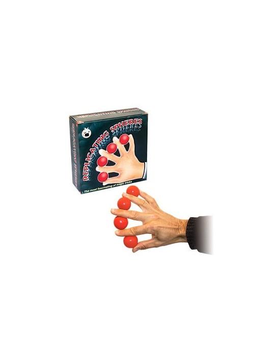 Bolas de multiplicación plásticas color rojo VDF Magic Principiantes