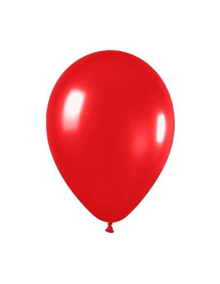Bolsa de 50 globos sempertex 260 color metal rojo (515) Sempertex Globoflexia