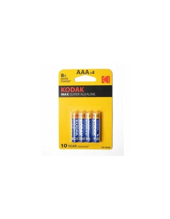 Pilas alcalinas kodak lr03 aaa 1.5 v (blister de 4 unid) k3a Kodak Pilas Alcalinas