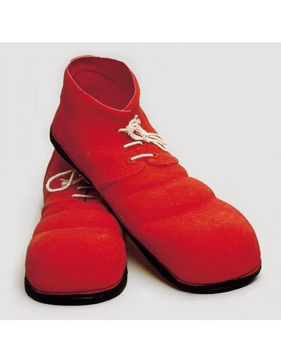 Zapatos payaso 35 cm adulto rojo S. romá Calzado