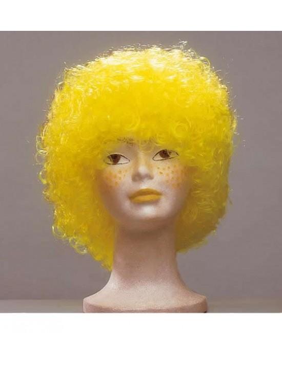 Peluca infantil afro xl color amarillo S. romá Pelucas y Calvas