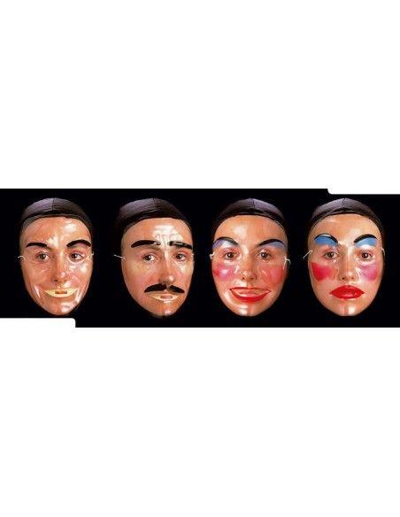 Caretas transparentes S. romá Máscaras y Caretas