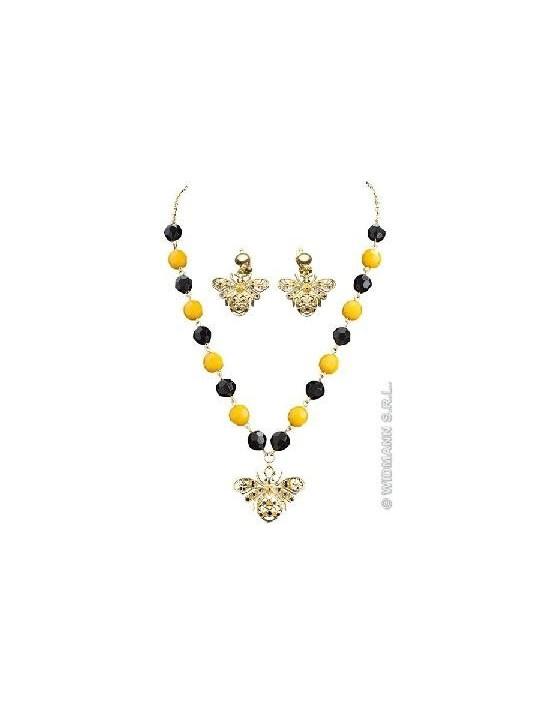Conjunto collar y pendientes abejas Widmann Bisutería