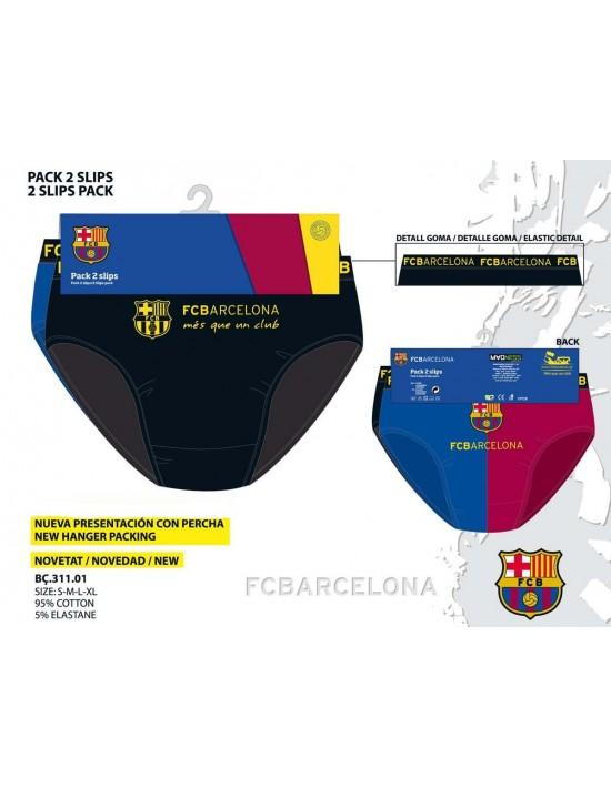 Pack 2 slips f.c. barcelona talla m Madness Ropa Interior