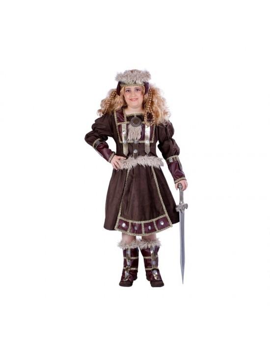 Disfraz de vikinga talla 3-5 años Disfraces Nines Niña
