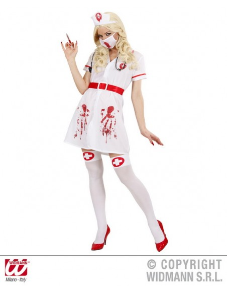 Disfraz enfermera sangrienta talla m Widmann Para Mujer