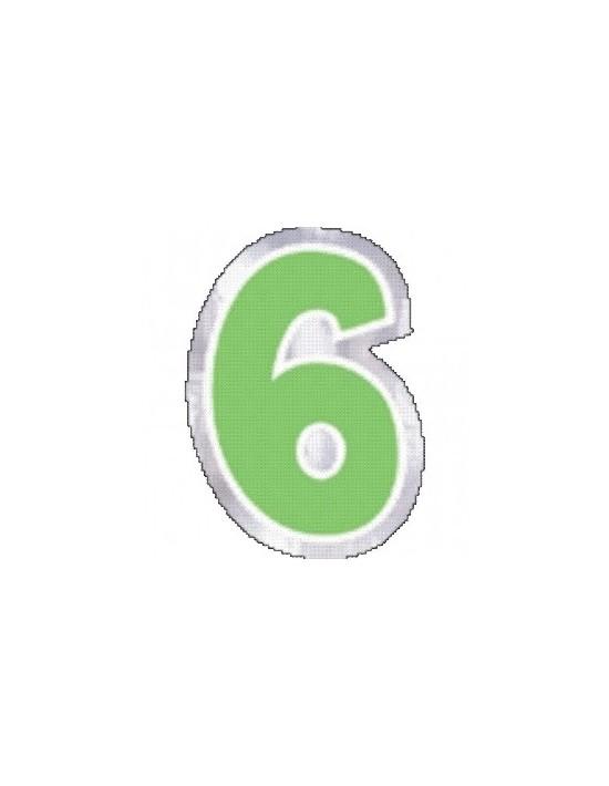 Número 6 para globos Sempertex Pegatinas para globos