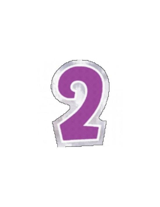 Número 2 para globos Sempertex Pegatinas para globos
