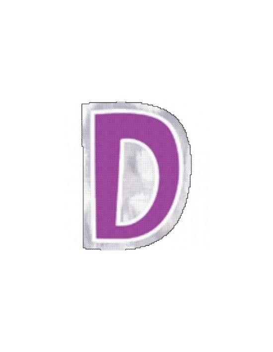 Letra d para globos Sempertex Pegatinas para globos