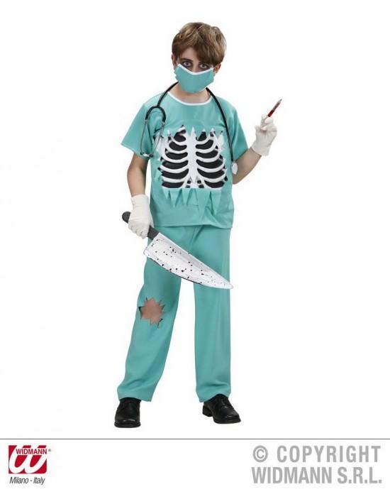 Disfraz cirujano terrorífico talla l 158 (11-13 años) Widmann Niño