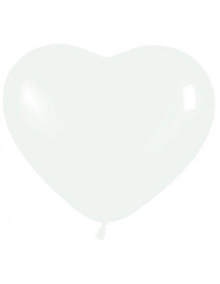 """Bolsa de 50 globos sempertex r12 de 30 cm color fashion blanco """"corazón"""" Sempertex Globos con forma"""