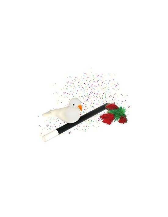 De varita a flores a confetti y a paloma VDF Magic Gomaespuma