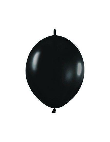 Bolsa de 25 globos sempertex r12 de 30 cm link-o-loon color metal negro (580) Sempertex Globos Link o Loon