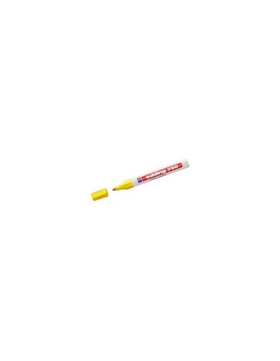 Rotulador permanente edding 750 punta redonda 2-4 mm amarillo Genérico Rotuladores globos