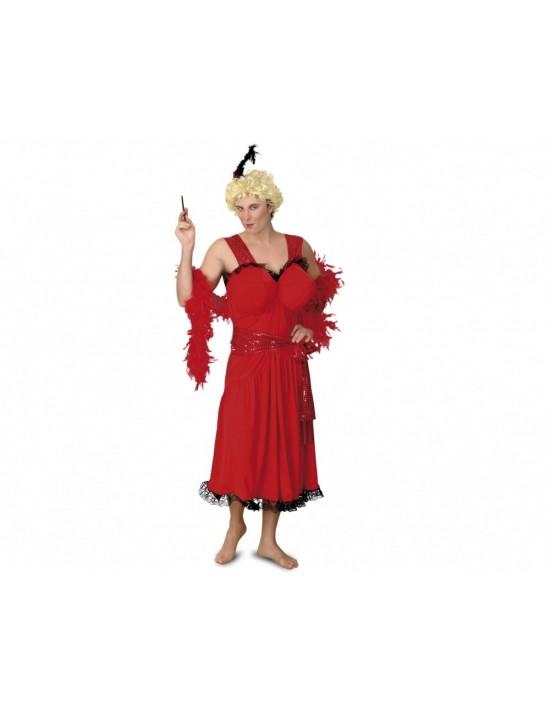 Disfraz de cabaretera para hombre talla única m-l Boys Toys Para Hombre