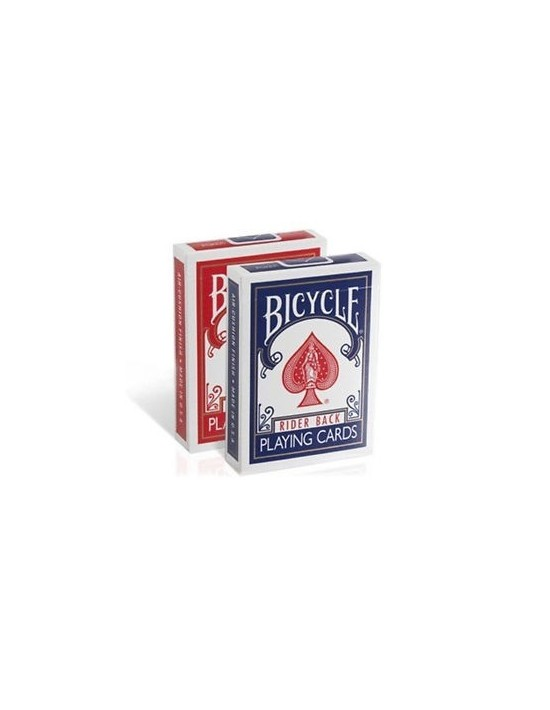 Baraja bicycle rider back 808 estuche antiguo dorso azul US Playing Card Co. Póquer