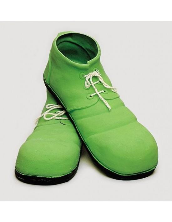 Zapatos payaso 35 cm adulto verde S. romá Calzado