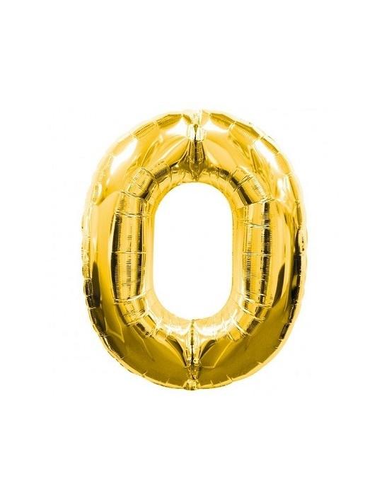 Globo foil nº 0 dorado Anagram Globos Foil sólidos