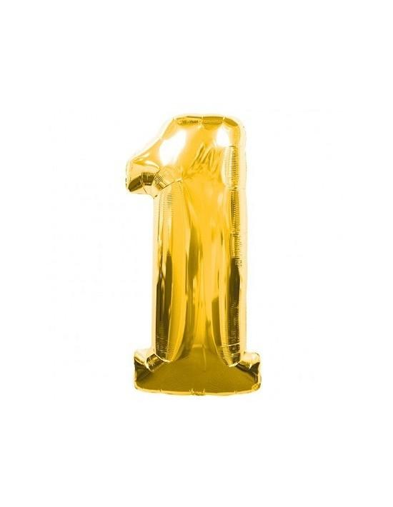 Globo foil nº 1 dorado Anagram Globos Foil sólidos