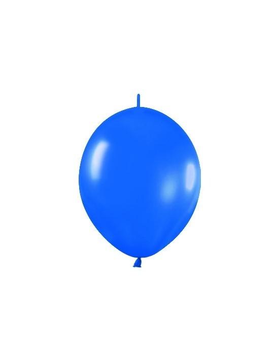 Bolsa de 25 globos r12 de 30 cm link-o-loon color metal azul (540) Sempertex Globos Link o Loon