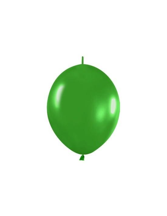 Bolsa de 25 globos r12 de 30 cm link-o-loon color metal verde (530) Sempertex Globos Link o Loon