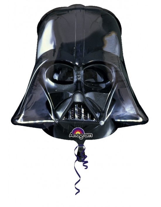 Globo foil casco darth vader 72 cm Anagram Globos Foil sólidos