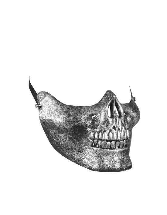 Máscara mentón calavera metalizada Widmann Máscaras y Caretas