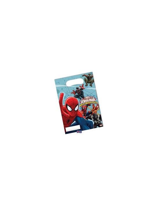Bolsas de regalo spiderman ultimate 6 uds Invcas Decoración regalos