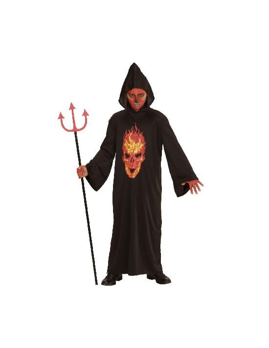 Disfraz túnica esqueleto en llamas talla 11-13 años Widmann Niño