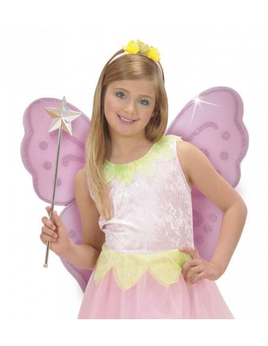 Alas fantasía con purpurina en rosa Widmann Alas