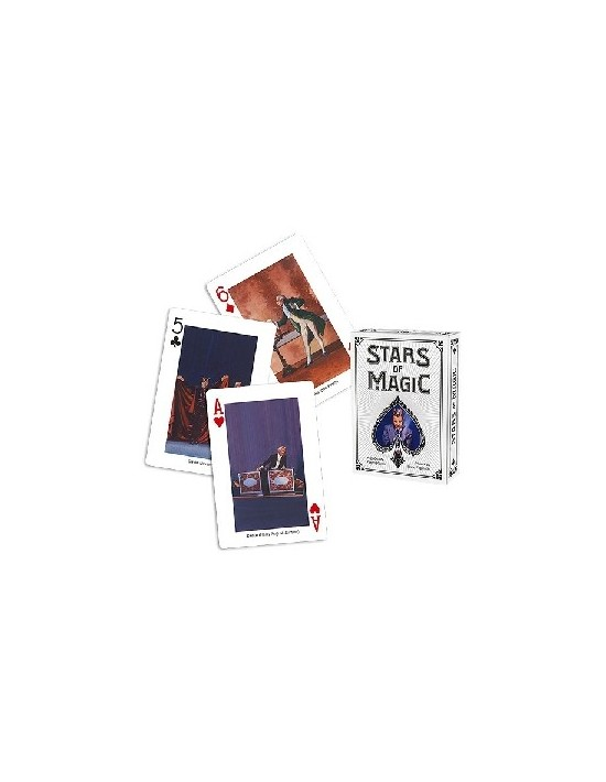 Baraja stars of magic deck blanca US Playing Card Co. Póquer
